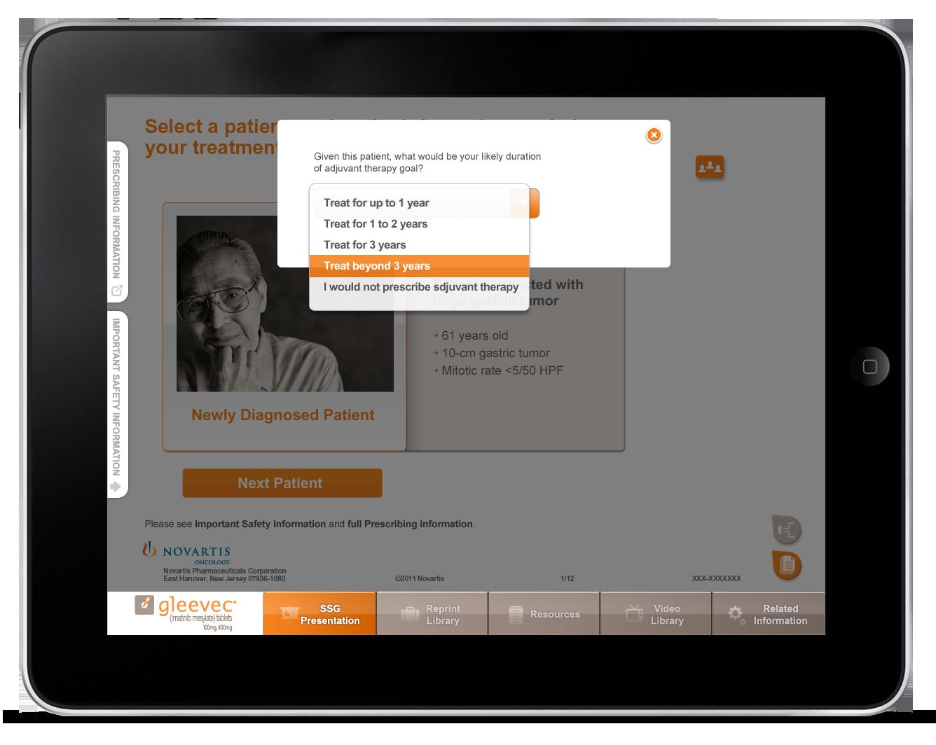 Pharmaceutical Sales Aid iPad App-1
