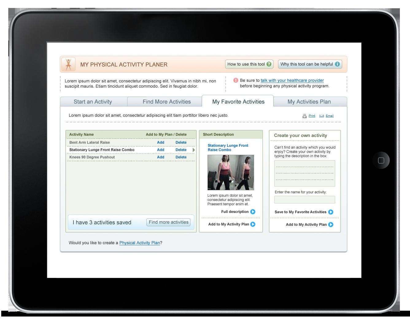 Activity Planner – Web Application-2