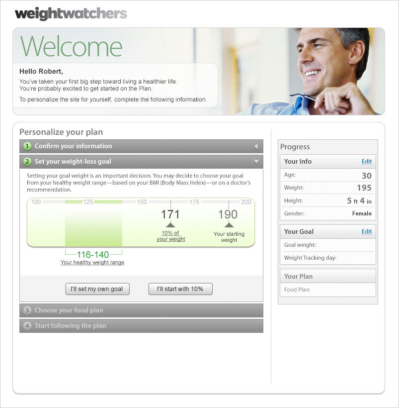 Weight Watchers Sign-up application-0