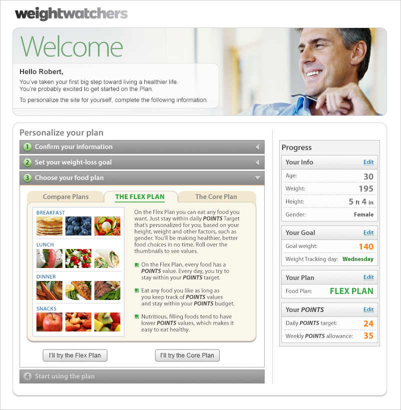 Weight Watchers Sign-up application-1